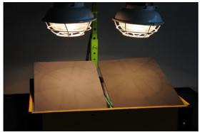 遮熱塗料・断熱塗料ハロゲンランプ実験