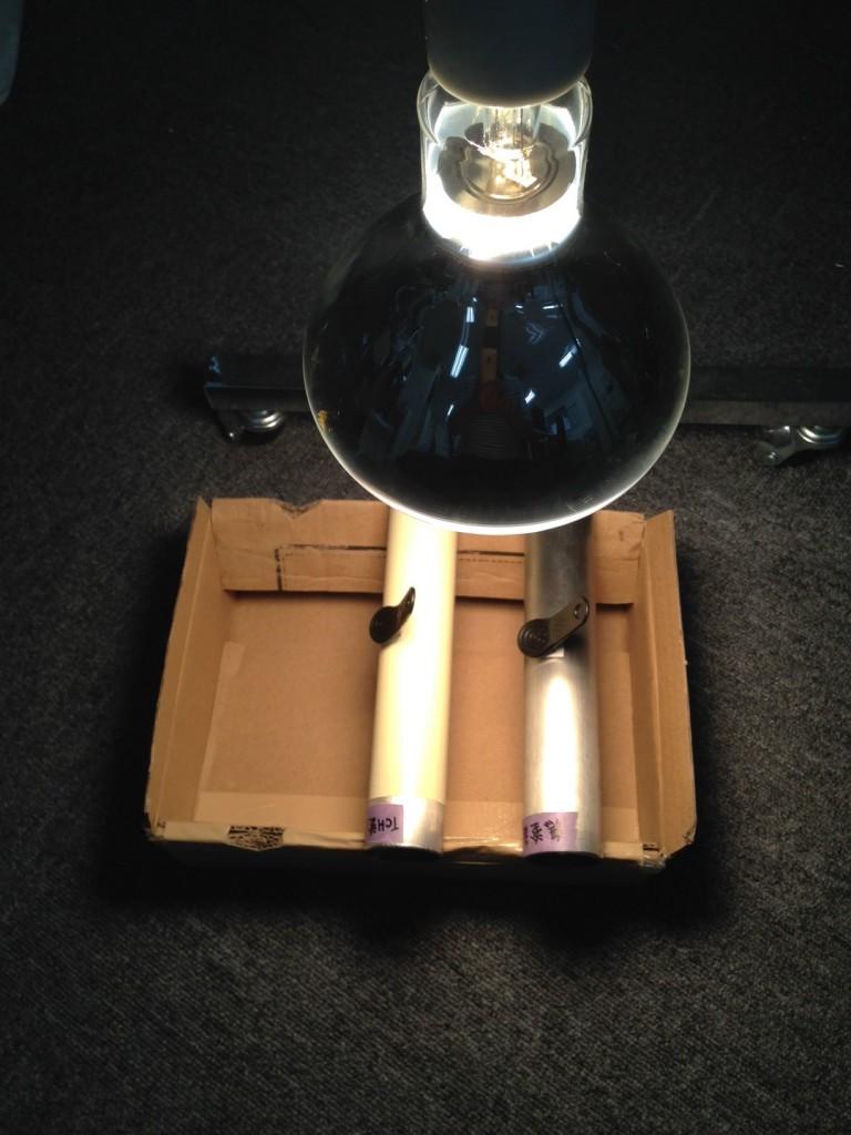 遮熱塗料、手すりでの遮熱効果試験