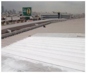 遮熱塗料・断熱塗料折半屋根塗装実験