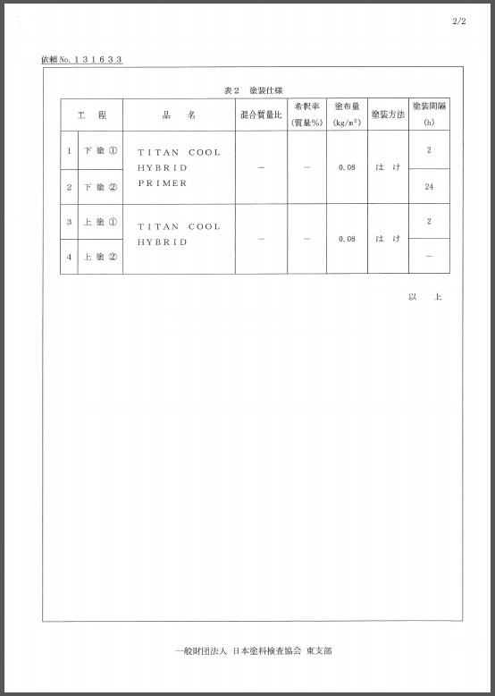 試験結果報告書1-2